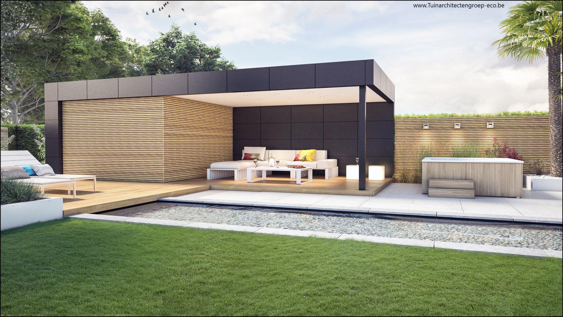 Eco tuinarchitectengroep 3d projecten loungetuin met for Moderne tuin