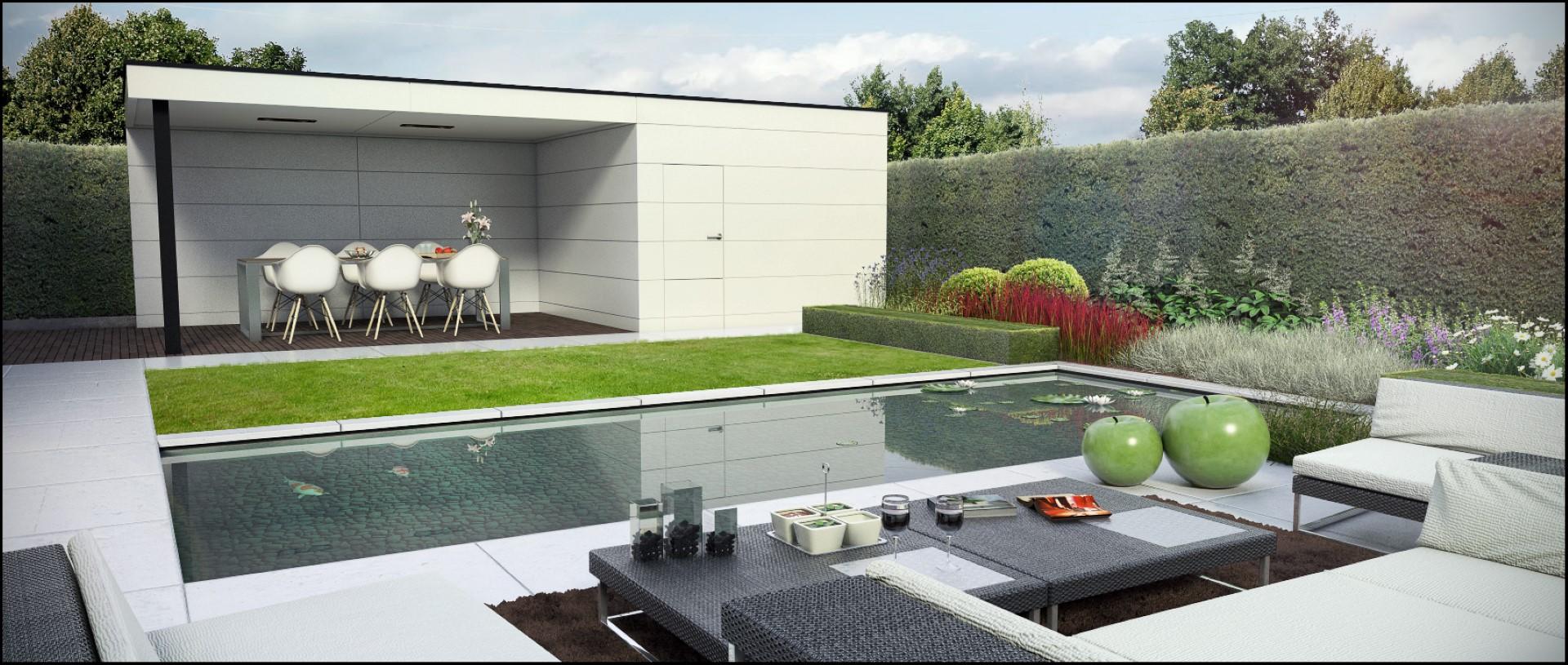 Eco tuinarchitectengroep 3d projecten moderne tuin zottegem - Landschapstuin idee ...