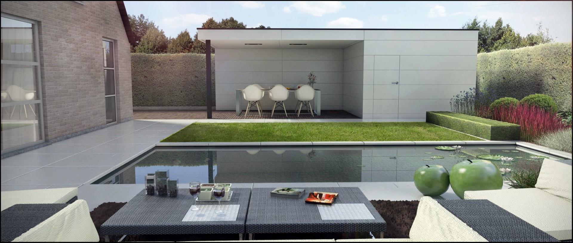 Eco tuinarchitectengroep 3d projecten moderne tuin zottegem - Massief idee van tuin ...