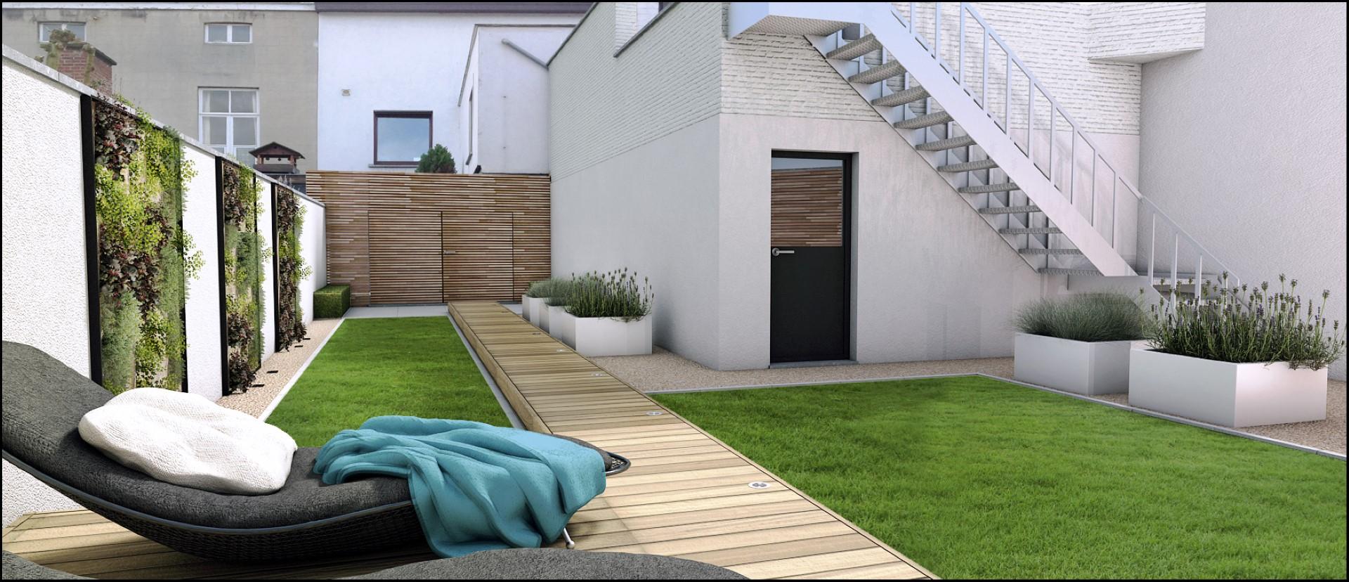 Eco tuinarchitectengroep 3d projecten stadstuin aalst - Kleine stadstuin ...