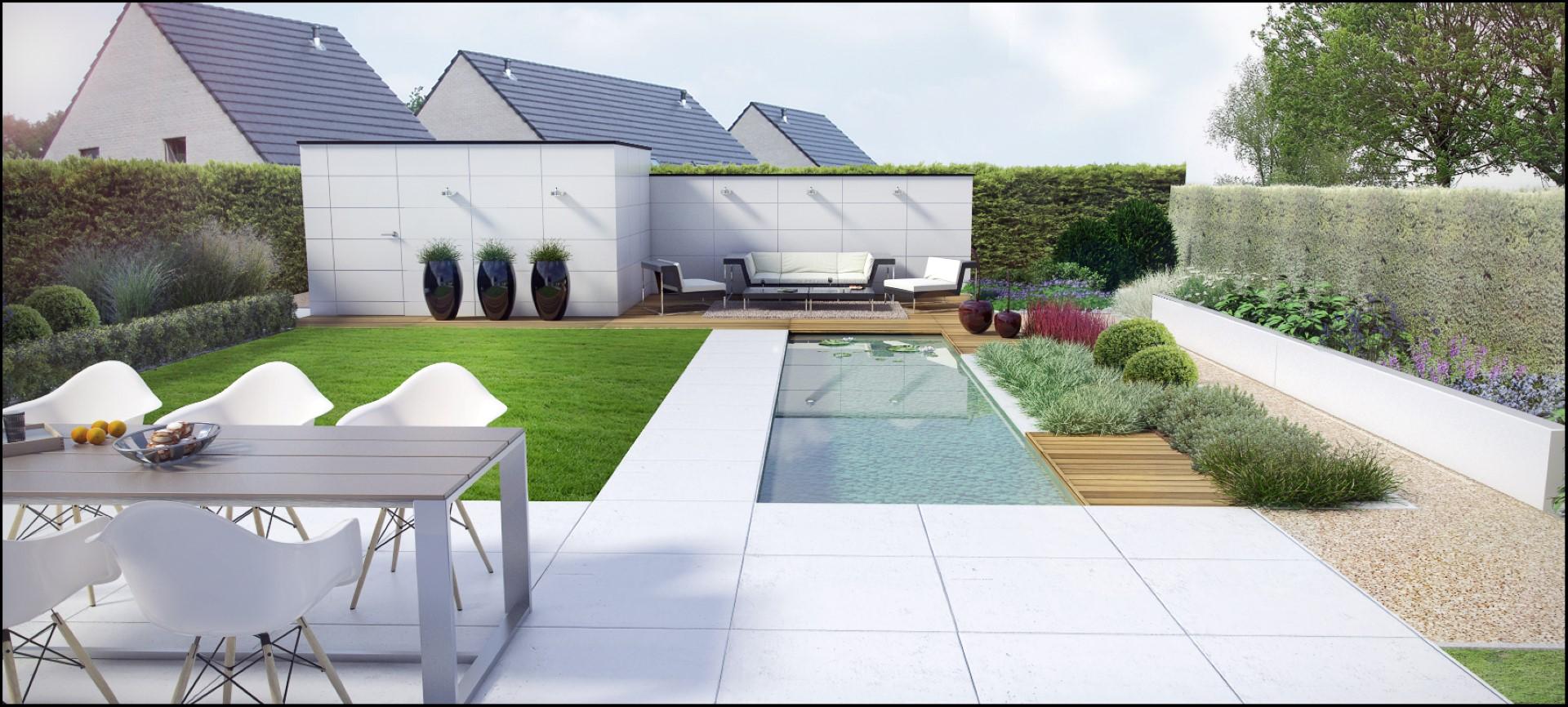 Eco tuinarchitectengroep 3d projecten villa tuin for Moderne kleine tuin