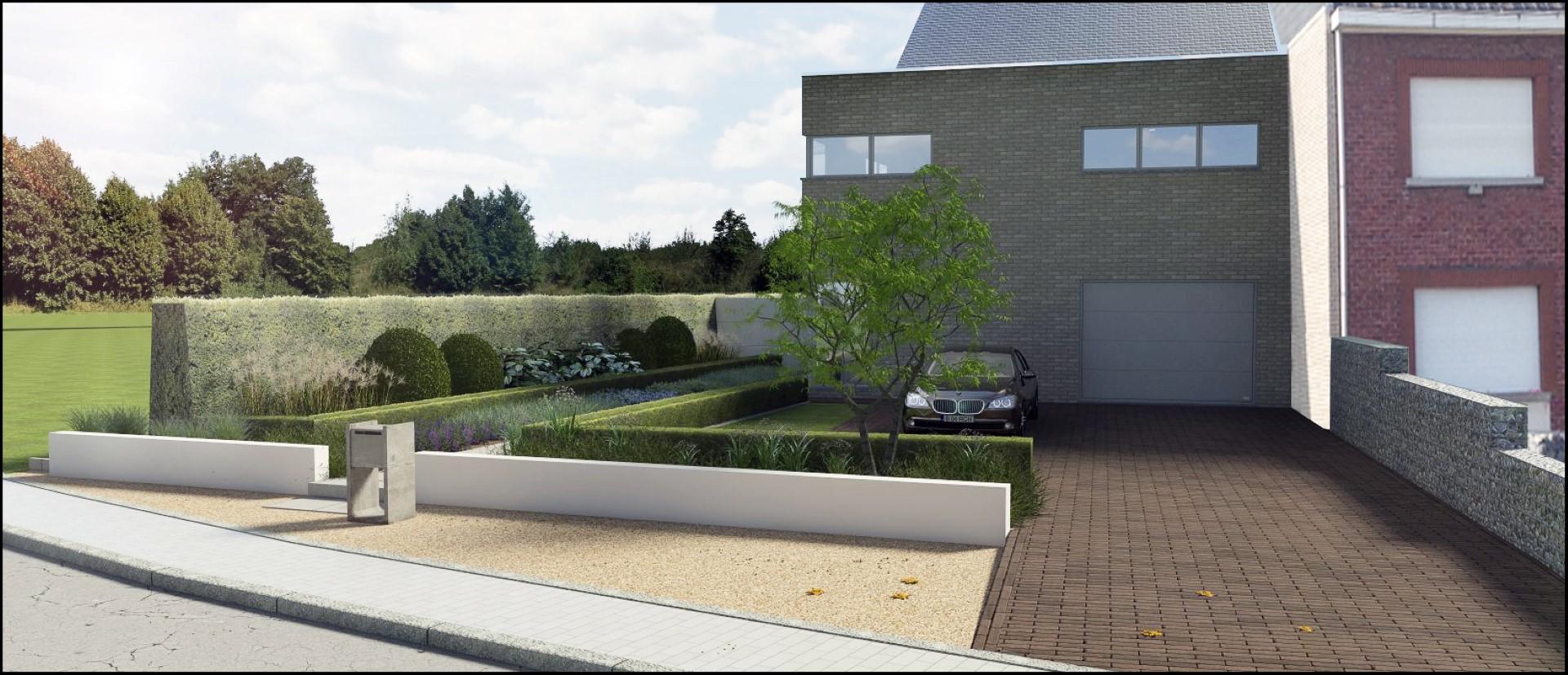 Eco tuinarchitectengroep 3d projecten voortuin for Afbeelding van moderne huizen