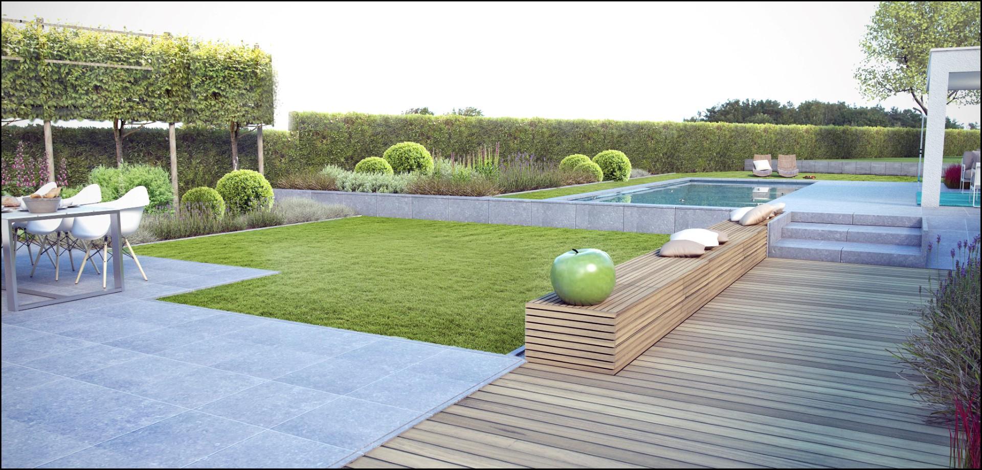 Eco tuinarchitectengroep 3d projecten zwembad poolhouse - Klein zwembad in de kleine tuin ...