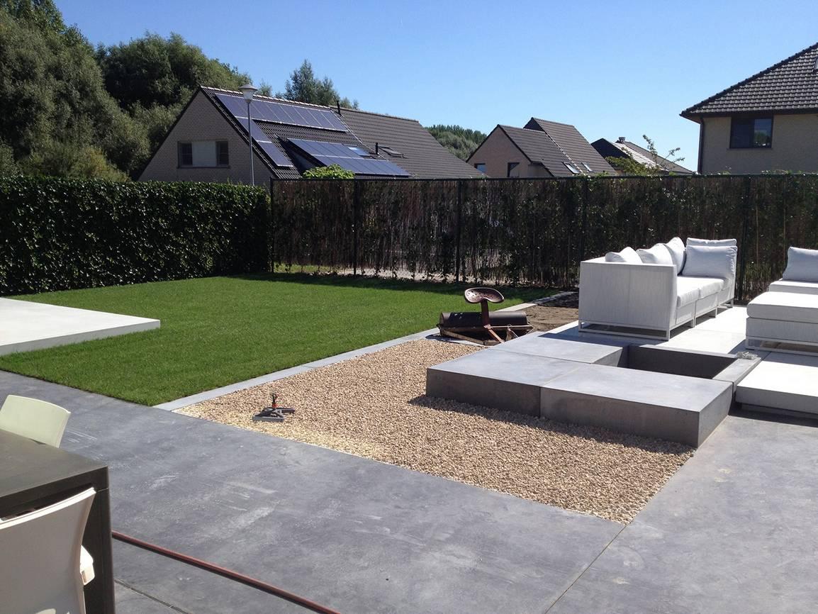 Eco tuinarchitectengroep tuinaanleg beton - Bedek een goedkoop terras ...