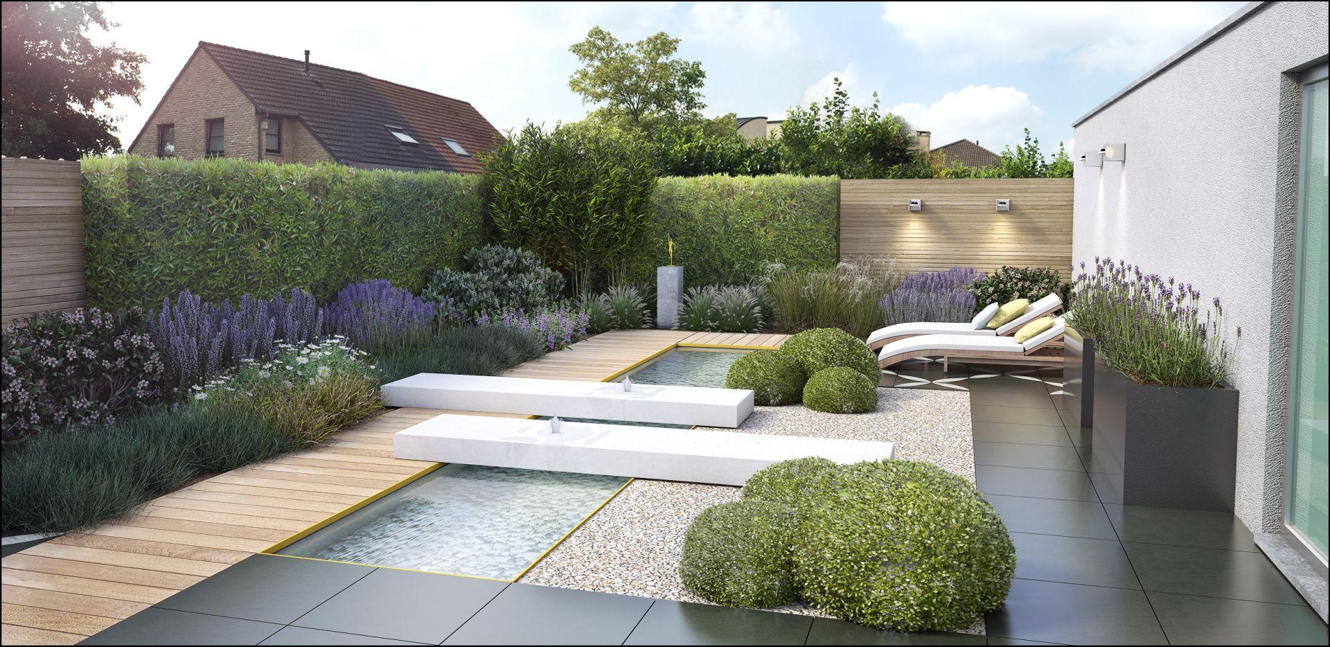 Eco tuinarchitectengroep 3d projecten strakke for Strakke kleine tuin