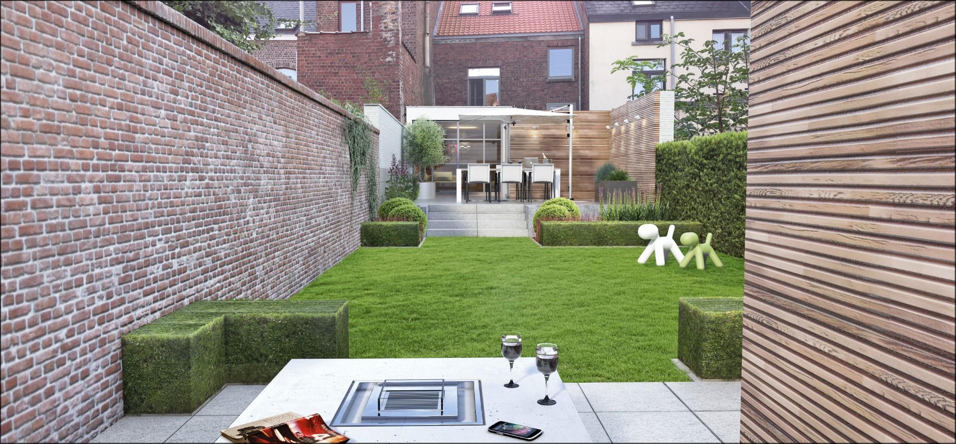 Eco tuinarchitectengroep 3d projecten kleine stadstuin - Kleine stadstuin ...