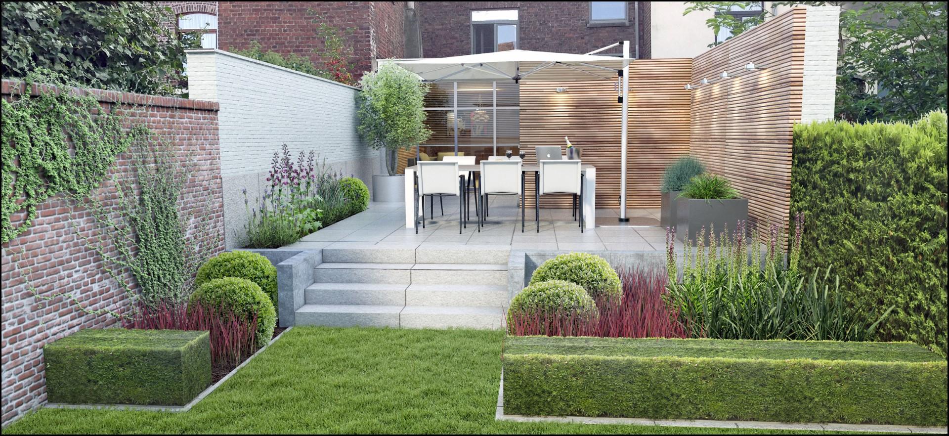 Eco tuinarchitectengroep 3d projecten kleine stadstuin for Moderne kleine tuin