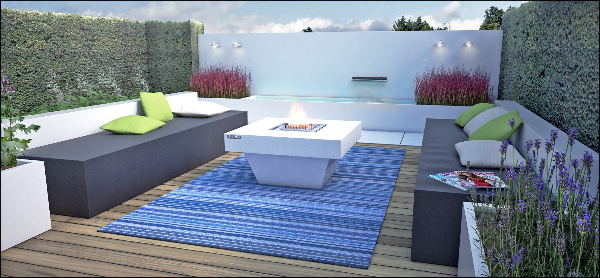 Eco tuinarchitectengroep 3d projecten lounge tuin ninove - Moderne lounges fotos ...