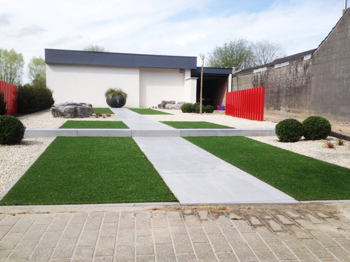 Eco tuinarchitectengroep projecten moderne tuin oost for Tuinaanleg modern