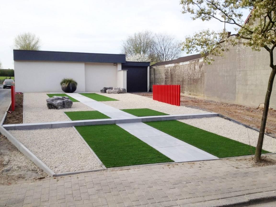 Pin voortuin moderne tuin design tuinaanleg tuinontwerp for Tuinaanleg modern