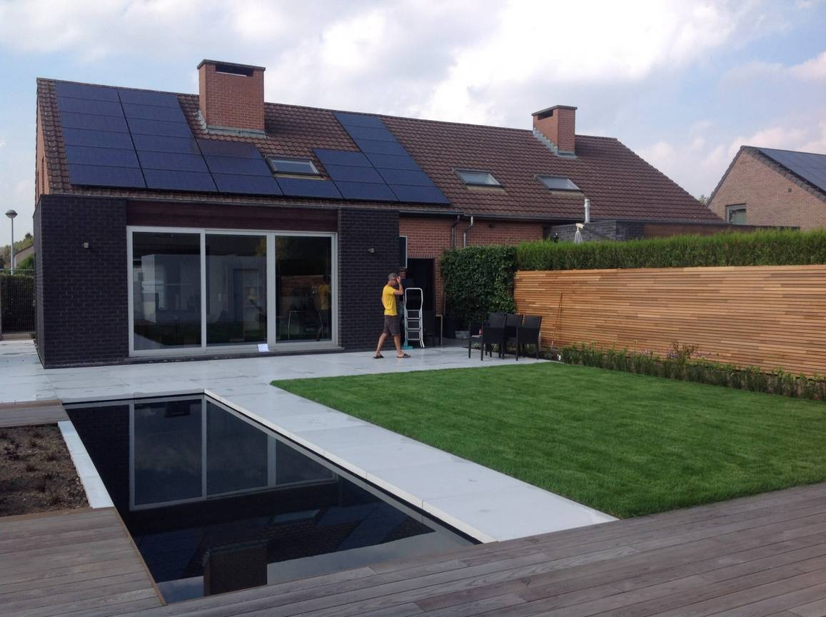 Eco tuinarchitectengroep projecten hedendaagse tuin for Moderne waterpartijen tuin