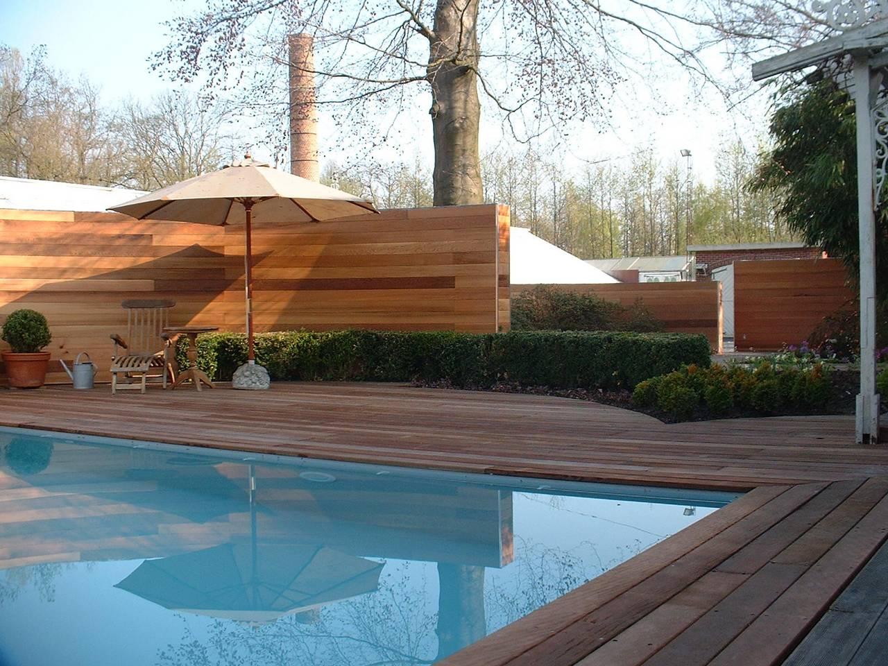 Eco tuinarchitectengroep projecten tuin gent zwembad